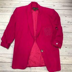 Classiques Wool Pink Blazer Sport Coat Size XS